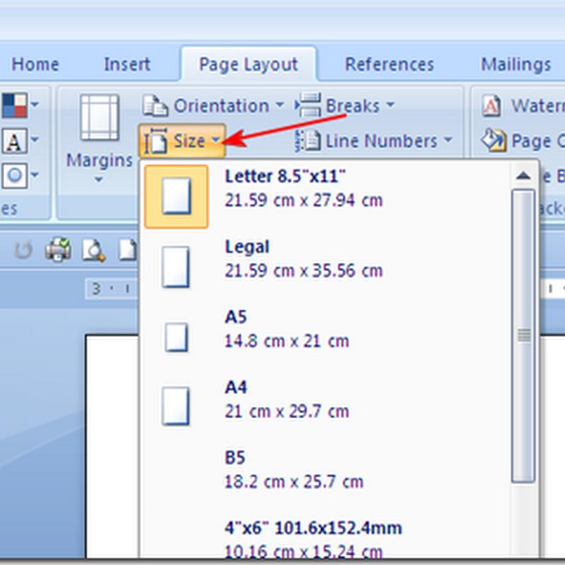 Mengatur Ukuran Kertas Pada MS Office Word 2007/2010