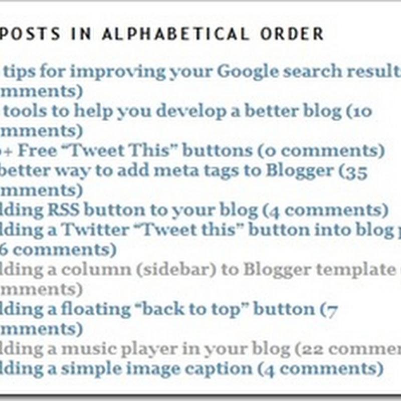 BloggerSentral blogging tips