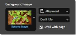 background image setting