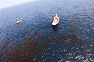 Oil slick in Gulf of Mexico