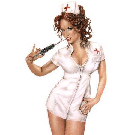 'Naughty nurse' art