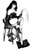 Bettie Page with whip