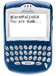 Phone with message - SarahPalinUSA You are dumb...
