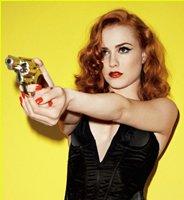Femme fatale with gun