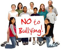 Group of kids with NO TO BULLYING sign