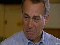 Boehner cries