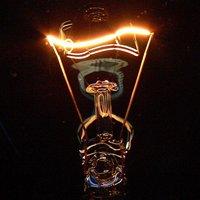 Filament glows hot