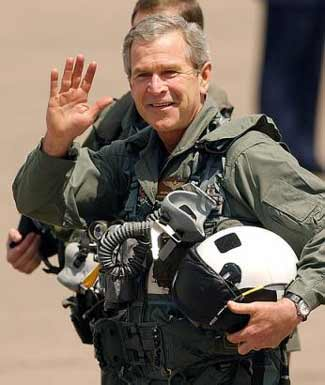 Bush in flight suit