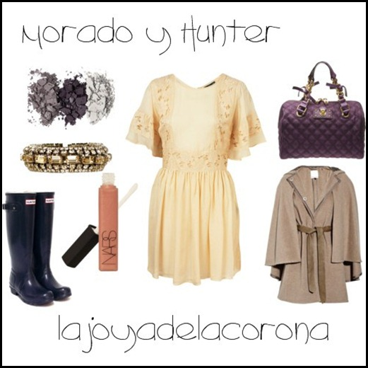 beige   morado hunter