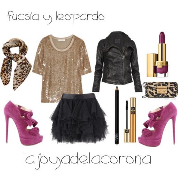 fucsia y leopardo