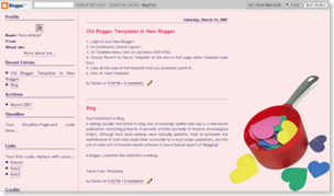 Pieces of Heart Blogspot template v2, blogger classic templates