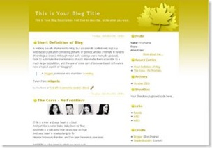 gold maple blogspot template, free blogger template, classic template