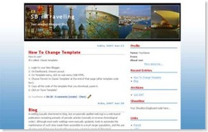Traveling Blogspot Template, classic templates creation