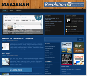 Maasahan Wordpress Theme, premium quality wordpress theme