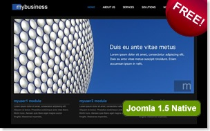 myBusiness joomla template, gallery templates, clean joomla template
