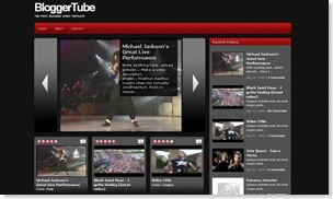 BloggerTube, video template, blogspot templates