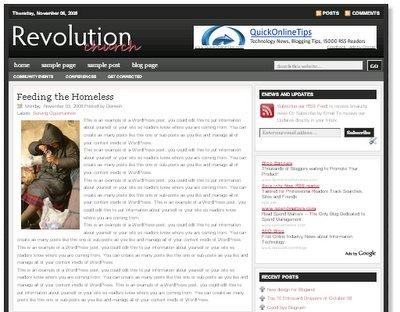 revolution church magazine blogger template, adsense ready magazine style blogger template