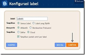 labels cofig