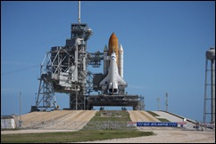 Atlantis on Pad 39-B, March 18, 2009