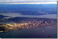 Downtown Seattle - almost there!