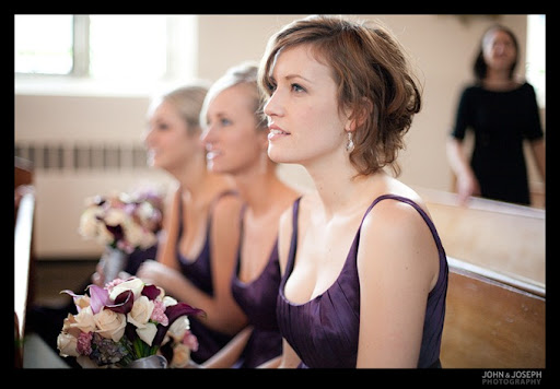 Loved their color palette of eggplant plum and silver gorgeous bridesmaids