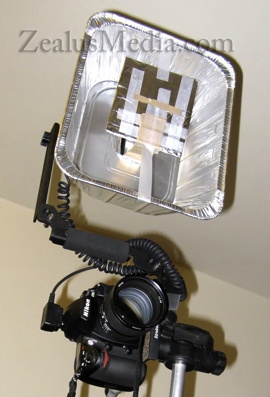 DIY Beauty Dish For Less Than $10 - fully assembled, frontal view