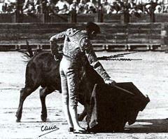 Manolete con la derecha Toledo Agosto 1947