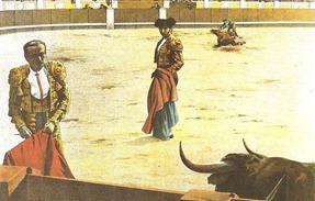 Lagartijo igualando un toro en las tablas (La Lidia 12-08-1895)