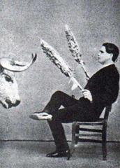 El Gordito. Banderillas en silla (Estudio)