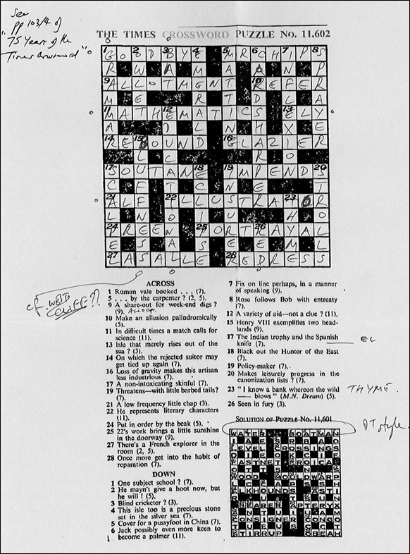 Times Crossword 11,602 - with a Nina