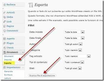esportare-wordpress