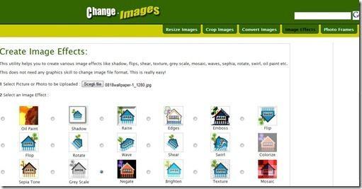 change images ridimensionare foto immagini online