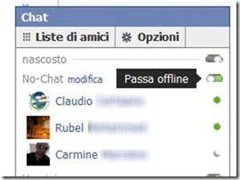 passa offline chat facebook