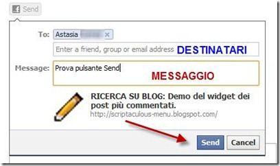 pulsante invia send di facebook