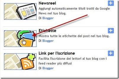 widget etichette blogger