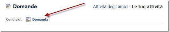 domanda facebook