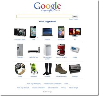 google shopping homepage