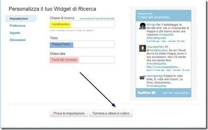 twitter widget ricerca
