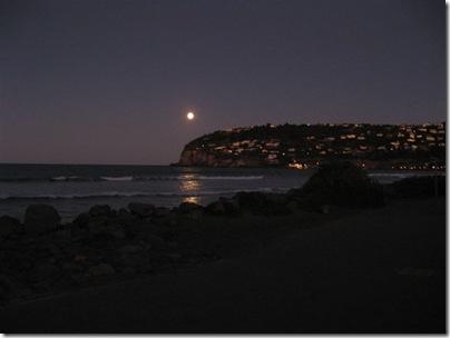 Moon rising in Christchurch