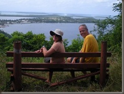 Katie and Steve admire the view from Mt. Talau