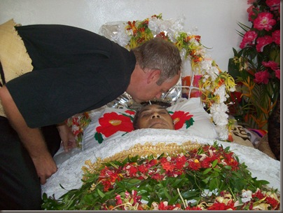 Steve at a Tongan Putu