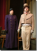 David C. Neal (left) as Constable-Man and Gary Glor (right) as Stephen Price in 'The African Com