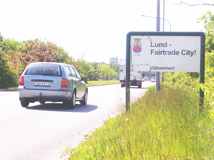 Entering Lund - a fairtrade city