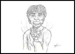man n hand drawin pic