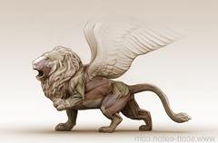 wingedLionEcorche