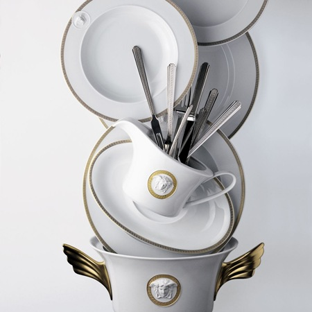 Rosenthal Versce Medaillon Meandre D'Or