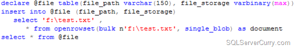 SQL Server BLOB