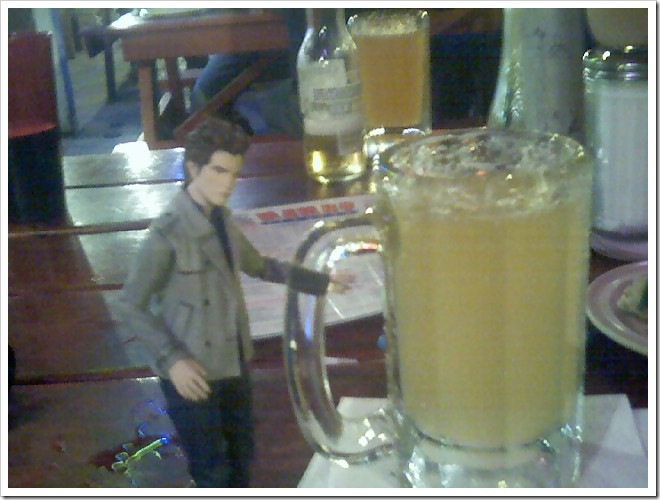 Pocket Edward and beer