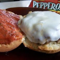 2bleu's Pepperoni Pizza Burgers