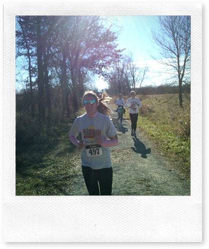 Photo taken, tagged and uploaded in real time while we were running!